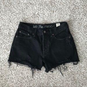 black denim Free People shorts